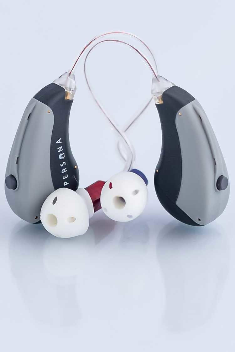 2 Opa 300 behind the ear hearing aids together